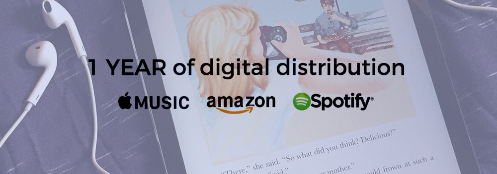 Book Soundtrack by Jared Kraft Plus One Year of Digital Distribution Through Apple Music, Amazon, and Spotify